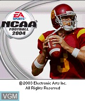 Title screen of the game NCAA Football 2004 on Nokia N-Gage