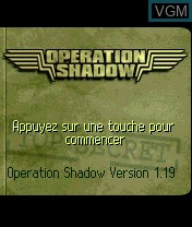 Title screen of the game Operation Shadow on Nokia N-Gage