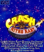 Title screen of the game Crash Nitro Kart on Nokia N-Gage