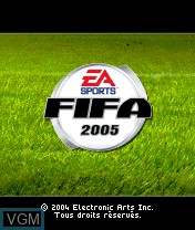 Title screen of the game FIFA Football 2005 on Nokia N-Gage