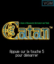 Title screen of the game Catan on Nokia N-Gage