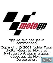 Title screen of the game MotoGP on Nokia N-Gage