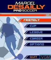 Menu screen of the game Marcel Desailly Pro Soccer on Nokia N-Gage