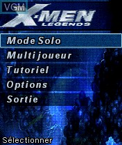 Menu screen of the game X-Men Legends on Nokia N-Gage
