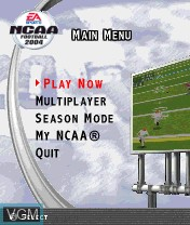 Menu screen of the game NCAA Football 2004 on Nokia N-Gage