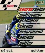 Menu screen of the game MotoGP on Nokia N-Gage