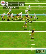 In-game screen of the game NCAA Football 2004 on Nokia N-Gage