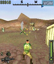 In-game screen of the game Operation Shadow on Nokia N-Gage