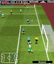 In-game screen of the game FIFA Football 2005 on Nokia N-Gage