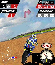 In-game screen of the game MotoGP on Nokia N-Gage