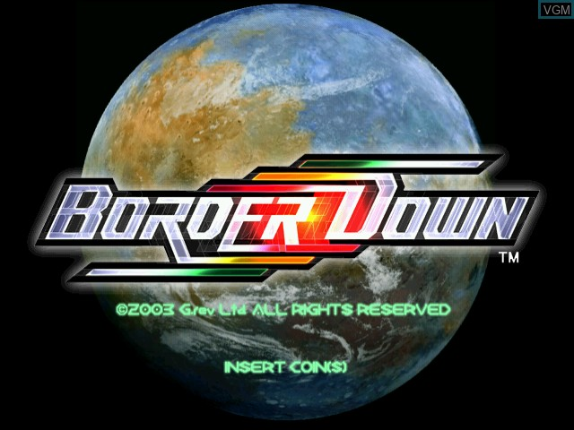 Title screen of the game Border Down on Naomi