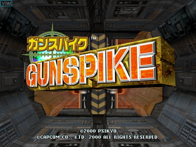 Title screen of the game Cannon Spike on Naomi