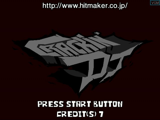 Title screen of the game Crackin' DJ on Naomi