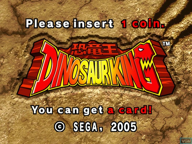 Title screen of the game Dinosaur King on Naomi