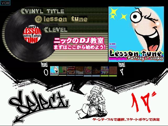 Menu screen of the game Crackin' DJ Part 2 on Naomi