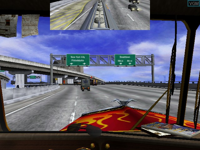 In-game screen of the game 18 Wheeler on Naomi