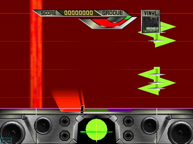 In-game screen of the game Crackin' DJ on Naomi
