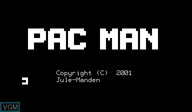 Title screen of the game Pac-man on Nascom