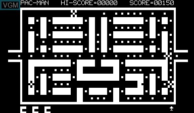 In-game screen of the game Pac-man on Nascom