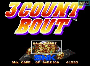 Title screen of the game Fire Suplex on SNK NeoGeo CD