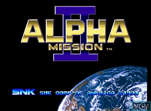 Title screen of the game ASO II - Last Guardian on SNK NeoGeo CD