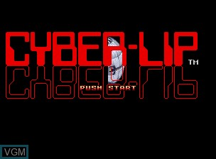 Title screen of the game Cyber-Lip on SNK NeoGeo CD