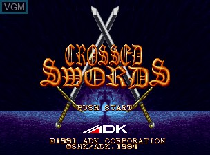 Title screen of the game Crossed Swords on SNK NeoGeo CD