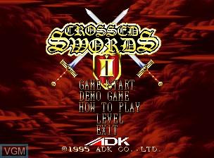Title screen of the game Crossed Swords II on SNK NeoGeo CD