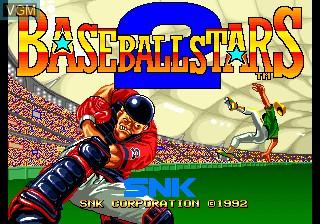 Title screen of the game Baseball Stars 2 on SNK NeoGeo CD