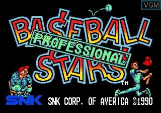 Title screen of the game Baseball Stars Professional on SNK NeoGeo CD