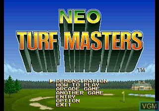 Title screen of the game Big Tournament Golf on SNK NeoGeo CD