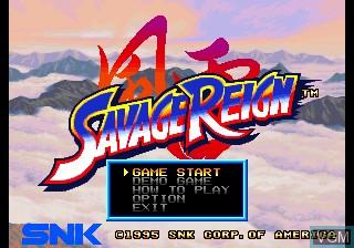 Title screen of the game Fu'un Mokujiroku - Kakutou Sousei on SNK NeoGeo CD