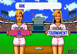 Menu screen of the game Baseball Stars Professional on SNK NeoGeo CD