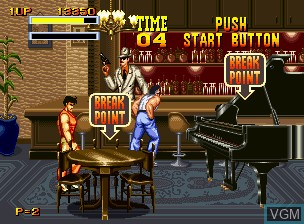In-game screen of the game Burning Fight on SNK NeoGeo CD