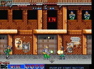 In-game screen of the game Cyber-Lip on SNK NeoGeo CD
