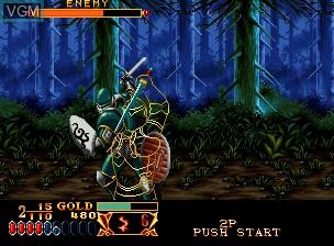 In-game screen of the game Crossed Swords on SNK NeoGeo CD