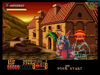 In-game screen of the game Crossed Swords II on SNK NeoGeo CD