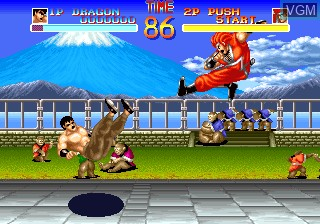 In-game screen of the game World Heroes on SNK NeoGeo CD
