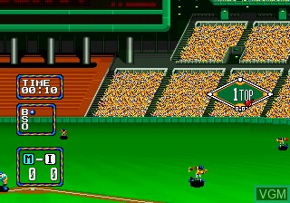 In-game screen of the game Baseball Stars 2 on SNK NeoGeo CD