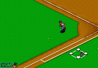 In-game screen of the game Baseball Stars Professional on SNK NeoGeo CD