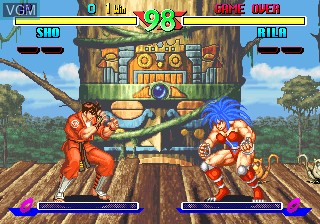 In-game screen of the game Breakers on SNK NeoGeo CD