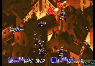In-game screen of the game Choutetsu Brikin'ger on SNK NeoGeo CD