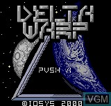 Title screen of the game Delta Warp on SNK NeoGeo Pocket