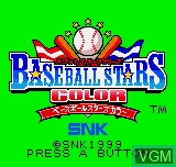 Title screen of the game Baseball Stars Color on SNK NeoGeo Pocket