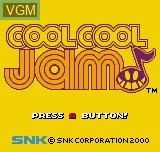 Title screen of the game Cool Cool Jam SAMPLE on SNK NeoGeo Pocket