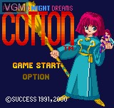 Title screen of the game Cotton - Fantastic Night Dreams on SNK NeoGeo Pocket