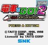 Title screen of the game Densha De GO! 2 on SNK NeoGeo Pocket