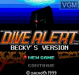 Title screen of the game Dive Alert - Rebecca Version on SNK NeoGeo Pocket