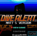 Title screen of the game Dive Alert - Matt's Version on SNK NeoGeo Pocket