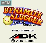 Title screen of the game Dynamite Slugger on SNK NeoGeo Pocket